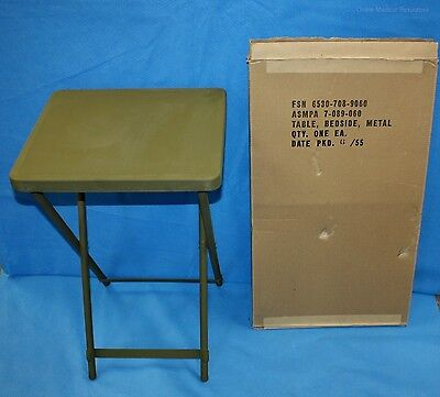 Military Bedside Utility Table M.A.S.H. U.S. June 1955 Original Box New