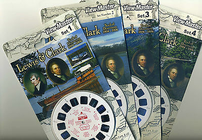 LEWIS and CLARK Trail of Discovery 1804 - 1806 View-Master Sets 1-4 Sealed Mint