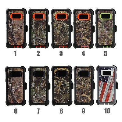 Samsung Galaxy S8 / S8 Plus Defender Rugged Case Cover (Clip Fits Otterbox)