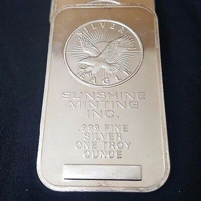1 Troy Ounce Silver Sunshine Inc. Mint Bar .999 Fine Silver
