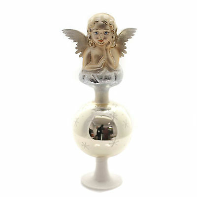 Inge Glas ANTIQUE ANGEL FINIAL Glass Germany Tree Topper 103914