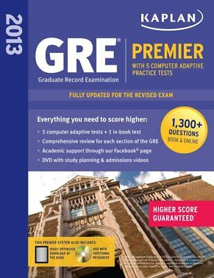 Kaplan GRE Premier 2013: With 5 Online Practice Tests + DVD [With C... by Kaplan
