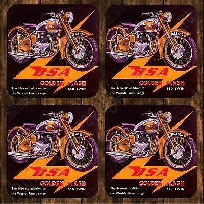 Drink Coaster Set Of 4  - Bsa Golden Flash Motorcycle