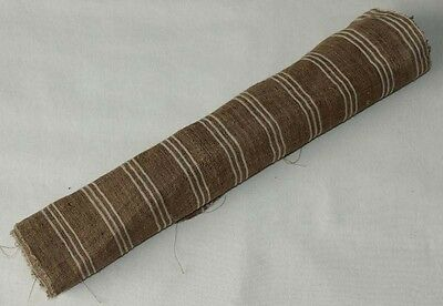 Vintage chinese miao people's homespun hand-woven fabric textile roll 4.4M