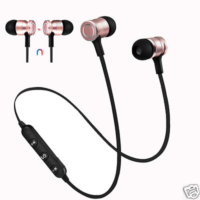Bluetooth 4.0 Earbuds Magnet Music Sports Earphone With Mic,4 Colors