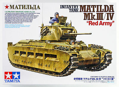 "Tamiya 35355 Infantry Tank MATILDA Mk.III/IV ""Red Army"" 1/35 scale kit"