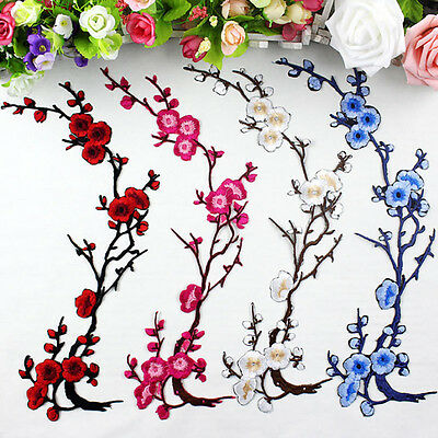 Blossom Flower Applique Clothing Embroidery Patch Iron On Sew On Cloth DIY