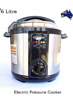 NEW  Stainless Steel Electric Pressure Cooker 6L Non-Stick 1000-1190W