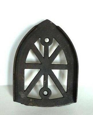 Antique, Sad Iron Trivet, Cathedral Shape, 3 Feet, 6""