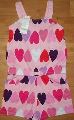 NWT Gymboree Outlet Girls Heart Print Romper Size 5 6  8 10