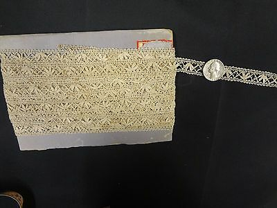 Antique vintage crochet lace trim clothing dolls bear floral 14.5 Yards Lot # 1