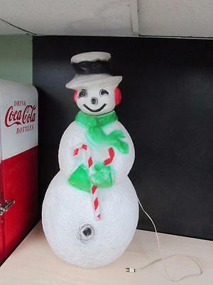 Vintage Snowman 40 Inches Blow Mold Holiday Christmas Yard Decor