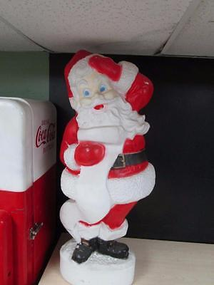 "Vintage 44"" Union Christmas Santa With List Lighted Blow Mold Yard Decor"