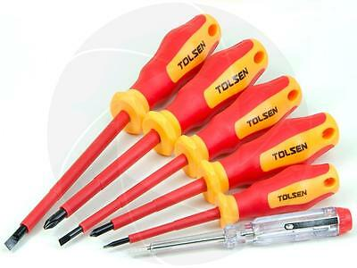 6pc VDE Power Insulated 1000V Slotted Phillips Handle Magnetized Screwdriver Set