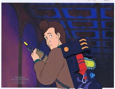 The Real Ghostbusters Original Production Animation Cel & Copy Bkgd #A20554