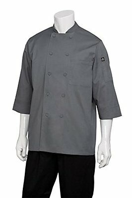 Chef Works Men's Essential 3/4 Sleeve Chef Coat JLCL Womens Chefs Jacket, New