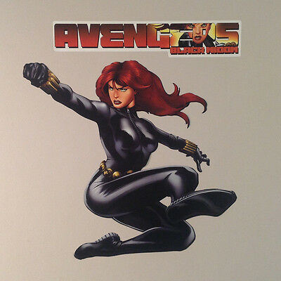 """Marvel Avengers Assemble FATHEAD Black Widow Graphic 20""""x17"""" +Name Sign 15""""x3"""""""