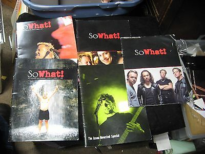 5 Different Metallica So What ! Fan Club Magazines 2000 / 2001