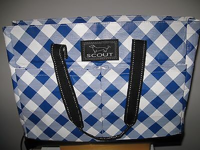SCOUT BAGS UPTOWN GIRL multi- pocket zip tote bag in Checkered Past EUC!