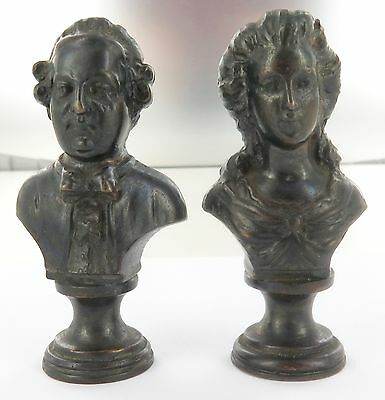 Rare / Antique Seals. Matching Pair Bronze Seals. Frederick The Great & Wife.
