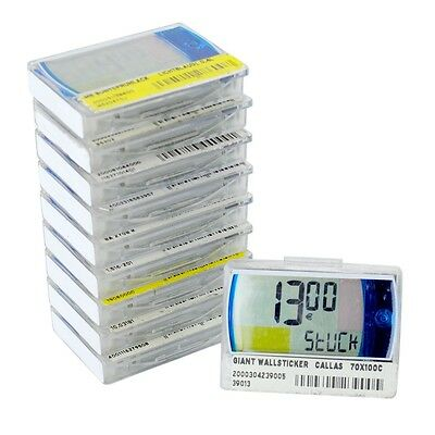 10x Electronic Digital LCD Price Sign Labels Pricer 18210-00 48x37x9mm