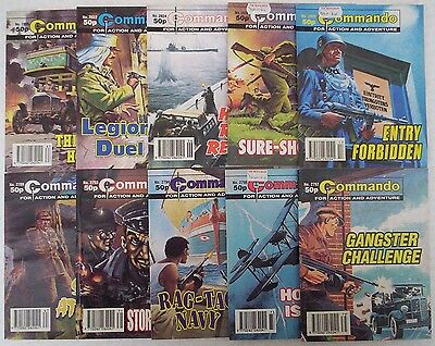 Lot N. TEN x COMMANDO War Picture Comics #s 2789 - 2835. Dated 1994-1995.
