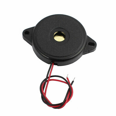 DC 1-30V 12V 2-Wired 85dB Sound Passive Electronic Buzzer Alarm Black