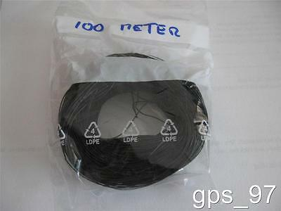 All Scales - 100 Meter / 300' AWG 27 Black Decoder Wire Stranded - New