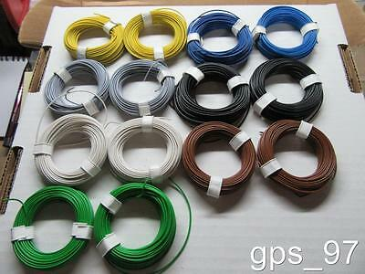 14 x 30 Feet AWG 25 Stranded High Flexible Wire Assorted Colors - New