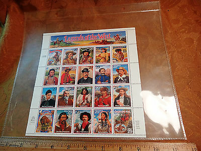 Full Sheet Of 20 1993 Legends Of The West 29c Stamps - Free S&H USA