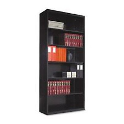 Tennsco Metal Bookcase, 6 Shelves, 34-1/2w x 13-1/2d x 78h, Black B78-BLK
