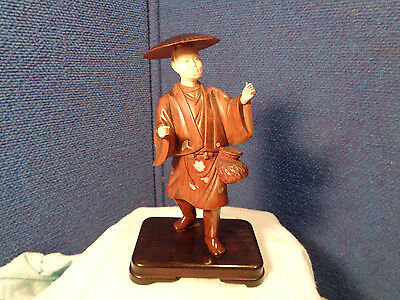 ~*~ESTATE FIND~*~ Antique Chinese Carved Wood Figurine STATUE