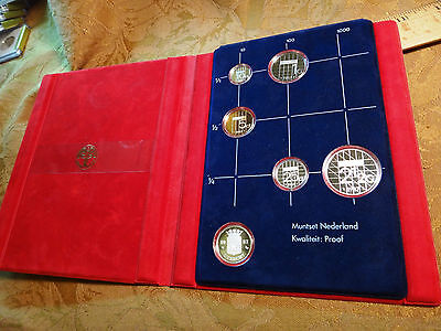 1987 Netherlands Proof 5-Coin Set (Includes Silver Token In Set) - Free S&H USA