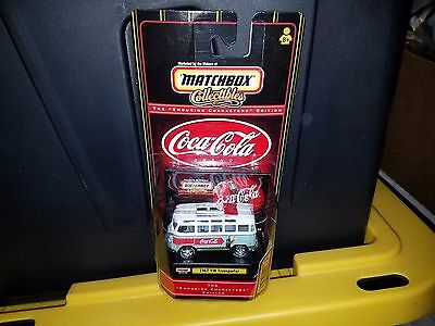 MJ7 Matchbox - 1999 Collectibles - 1967 VW Transporter - Green - Coca-Cola