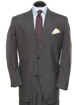 Brooks Brothers 1980's vintage wash and wear 3-roll-2 sack suit, ~45L