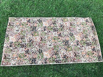 Antique/vintage 1940's Era Old Tapestry Style Abstract Floral Design Rug