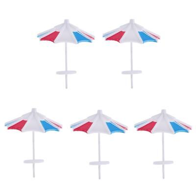 5Pcs DIY Model Sun Umbrella Parasol Micro landscape Decoration Layout 1/100