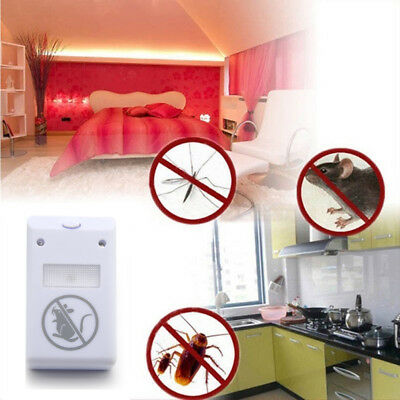 Pestbye Whole House Mouse Rat Rodent Repeller Deterrent Ultrasonic Pest Plug In