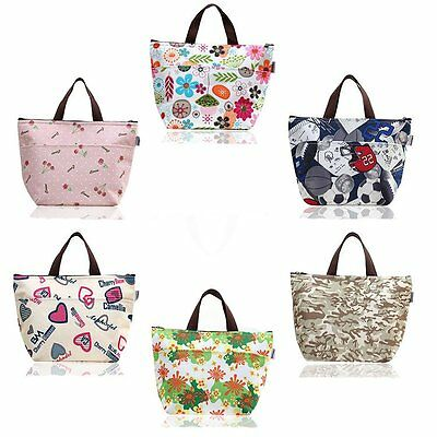 Portable Lunch Picnic Carry Tote Storage Bag Thermal Insulated Cooler
