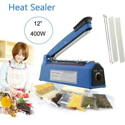 "12"" 300W Hand Impulse Heat Sealer Manual Seal Machine Plastic PE/PP Bags Closer"