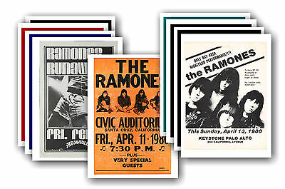 RAMONES  - 10 promotional posters - collectable postcard set # 1
