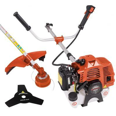3 PS Benzin Motorsense Rasentrimmer Freischneider Trimmer 52 ccm 2,2 kw Orange