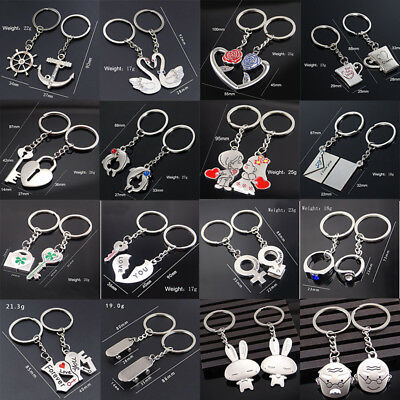 Men Women Couple Lovers Gifts Jewelry Car Keyrings Keychains Key Ring Key Fob