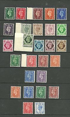 1937 / 1942 / 1951  Definitive full sets . .Superb unmounted Mint