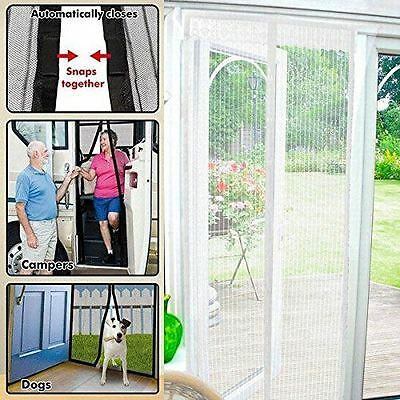 Starmo White Magic Curtain Door Mesh Magnetic Flying Bug Insect Screen Net