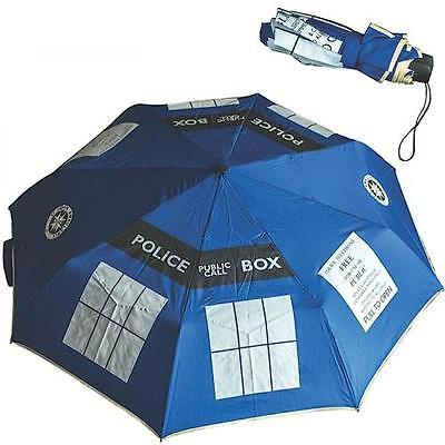 Dr Who - Tardis Umbrella With Nylon Sleeve - New & Official Fox With Tag