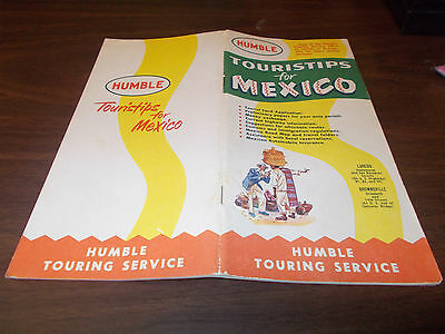 "1957 Humble ""Touristips for Mexico"" 38-page Vintage Booklet"