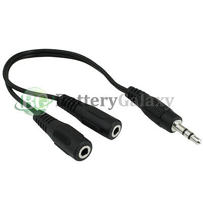 100 Dual 3.5mm Earbud Headphone Splitter B for Apple iPhone / Android Cell Phone