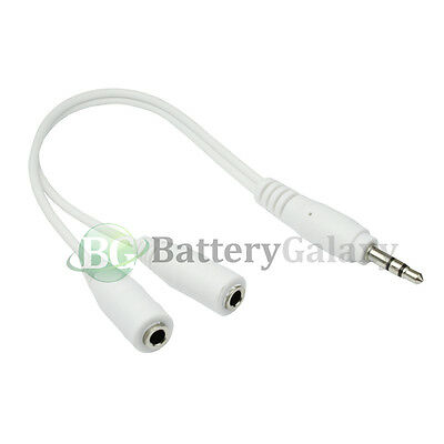 100 Dual 3.5mm Earbud Headphone Splitter for Apple iPhone / Android Cell Phone