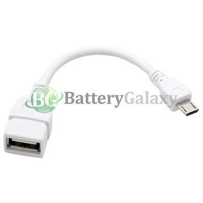 100 USB Micro B to A M/F Adapter Converter OTG Cable for Android Cell Phone